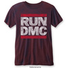 Run DMC Men's Fashion Tee: DMC Logo (Burn Out) (X-Large)