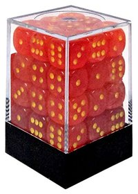 Chessex - 12mm D6 36 Dice Block - Ghostly Orange & Yellow - Cover
