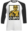 Star Wars - Classic C-3PO Block Raglan Long Sleeve T-Shirt (Medium)