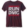 Run Dmc Logo Vintage Mens Navy Red Burnout Tshirt: Large (Large)