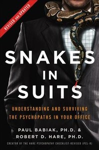 Snakes In Suits - Paul Babiak (Hardcover) - Cover