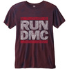 Run DMC Men's Fashion Tee: Logo Vintage with Burn Out Finishing (XX-Large)
