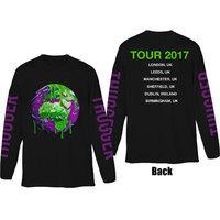 Young Thug Thugger Globe Mens Black Long Sleeve T Shirt (Small) - Cover