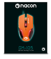 NACON - GM-105 Wired (1.5M) Gaming Mouse for PC - Orange
