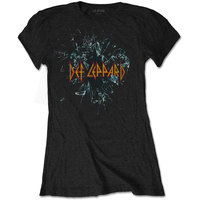 Def Leppard Shatter Ladies Black T-Shirt (X-Large) - Cover