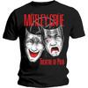 Motley Crue Theatre of Pain Cry Mens Black T-Shirt (Small)