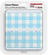 Nintendo new 3DS Cover Plates - Light Blue Check