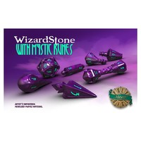 Polyhero Dice - Set of 7 Wizard Dice - WizardStone with Mystic Runes - Cover