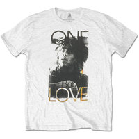 Bob Marley One Love Mens White T-Shirt (Small) - Cover