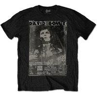 David Bowie Ziggy Live Mens Black T-Shirt (Large) - Cover