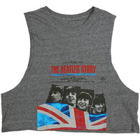 The Beatles Story Ladies Cropped Grey Vest (Small) - Cover