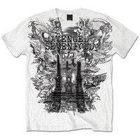 Avenged Sevefold Land of Cain Mens White T-Shirt (Medium) - Cover
