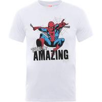 Amazing Spiderman Boys White T-Shirt (7 - 8 Years) - Cover