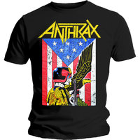 Anthrax Dread Eagle Mens Black T-Shirt (Medium) - Cover