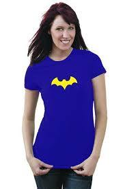 Batgirl Ladies Navy T-Shirt (XX-Large) - Cover