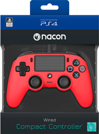 NACON - Wired Compact Controller for PlayStation 4 - Red (PS4/PC) - Cover
