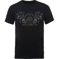 Disturbed Beware the Vultures Mens Black T-Shirt (Small) - Cover