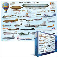 Eurographics Puzzle 1000 Pieces - History of Aviation - Cover