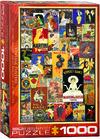 Eurographics - Vintage Posters Puzzle (1000 Pieces)