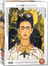 Eurographics - Frida Kahlo Self Portrait with Thorn Necklace Puzzle (1000 Pieces) - Cover