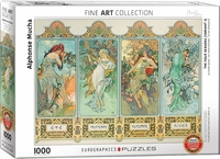 Eurographics Puzzle 1000 Pieces - Alphonse Mucha - Four Seasons - Cover