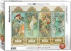 Eurographics Puzzle 1000 Pieces - Alphonse Mucha - Four Seasons