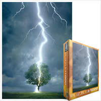 Eurographics - Lightning Striking Tree Puzzle (1000 Pieces) - Cover