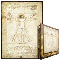 Eurographics - Vitruvius Man / Da Vinci Puzzle (1000 Pieces) - Cover