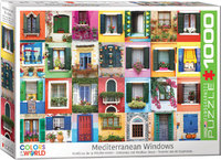 Eurographics - Mediterranean Windows Puzzle (1000 Pieces) - Cover