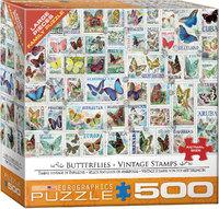Eurographics - Vintage Stamps - Butterflies Puzzle (500 Pieces) - Cover
