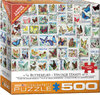 Eurographics - Vintage Stamps - Butterflies Puzzle (500 Pieces) Cover