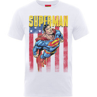 Superman US Flight Boys White T-Shirt (7 - 8 Years) - Cover