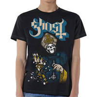 Ghost Papa of the World Men's Black T-Shirt (Small) - Cover