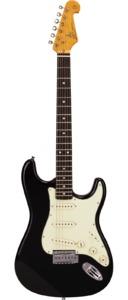 SX SST62 Vintage Series 3/4 Electric Guitar (Black) - Cover
