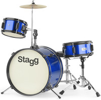 Stagg TIM JR 3/16 BL 3pc Junior Drum Kit (Blue) - Cover