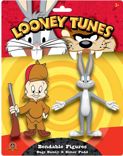 looney tunes bugs bunny elmer fudd bendable figures pack of 2