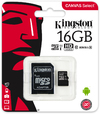 Kingston Technology - Canvas Select 16GB microSD Memory Card with SD adapter