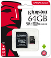 Kingston Technology - Canvas Select 64GB microSD Memory Card with SD adapter