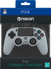 NACON - Wired Compact Controller for PlayStation 4 - Grey (PS4)