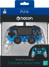 NACON - Wired Compact Controller for PlayStation 4 - Light Blue (PS4)