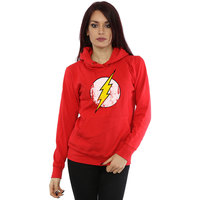 DC Comics The Flash Distressed Logo Ladies Red Pullover Hoodie (X-Small) - Cover