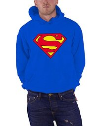 DC Comics Superman Logo Men's Blue Pullover Hoodie (Small) - Cover