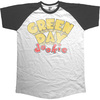 Green Day Dookie Mens Short Sleeve Raglan Black & White T-Shirt (Large)