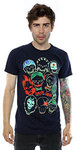 DC Comics Suicide Squad Band of Skulls Men's Navy Blue T-Shirt (Medium)