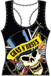 Guns N' Roses Skull and Guns Oversize Women's Vest (Medium)