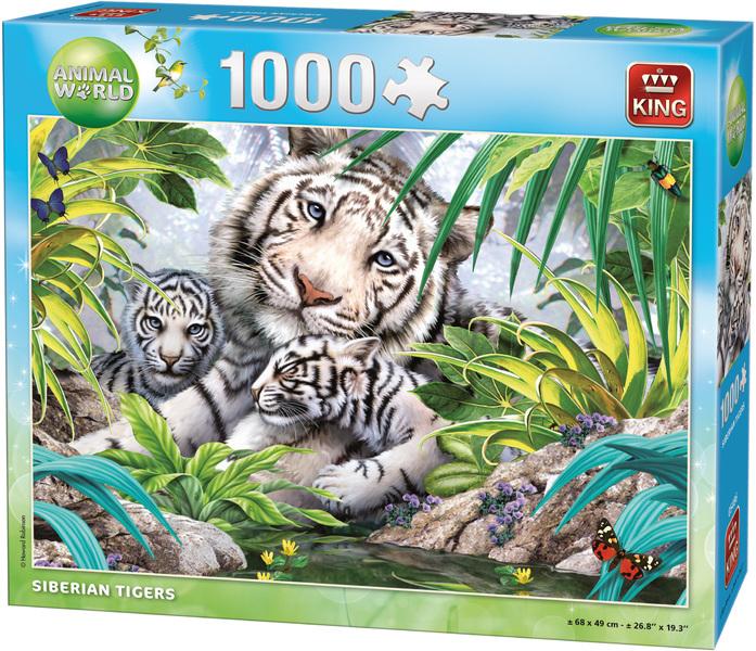 King Puzzle - Animal World - Siberian Tiger Puzzle (1000 ...