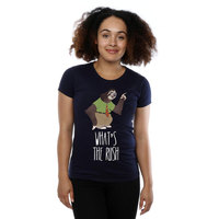 Disney Zootropolis What's the Rush Ladies Navy T-Shirt (Small) - Cover