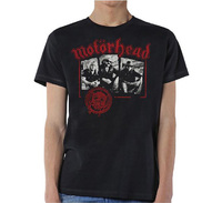 Motorhead Stamped Mens Black T-Shirt (Medium) - Cover
