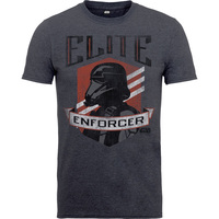 Rogue One Elite Enforcer Boys Charcoal T-Shirt (12-13 years) - Cover