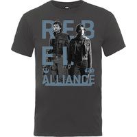 Rogue One Rebel Alliance Boys Charcoal T-Shirt (12-13 years) - Cover